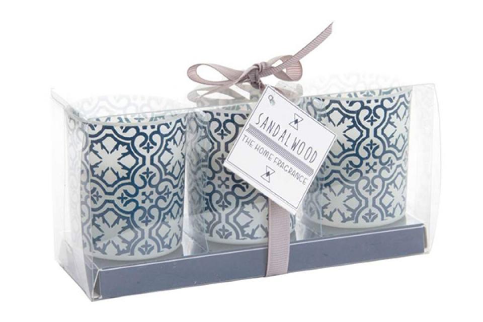 Set plavo belih sveća/3  5x6 428 gr