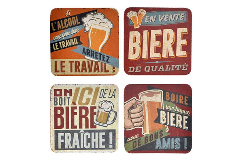 Set podmetača beer/ 4 10x10x0,5