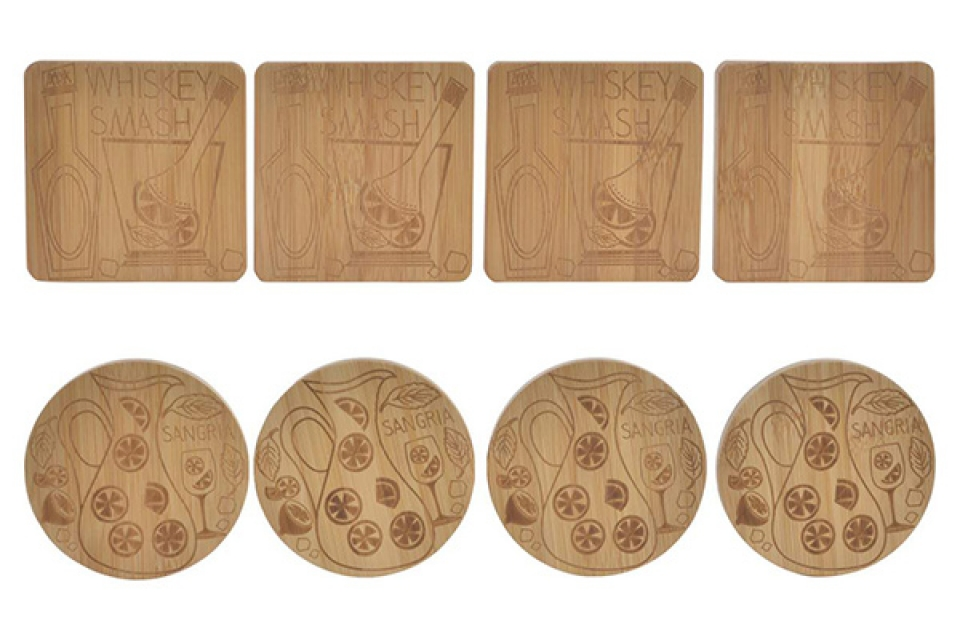 Set podmetača coctails / 4 10x10x1 2 modela