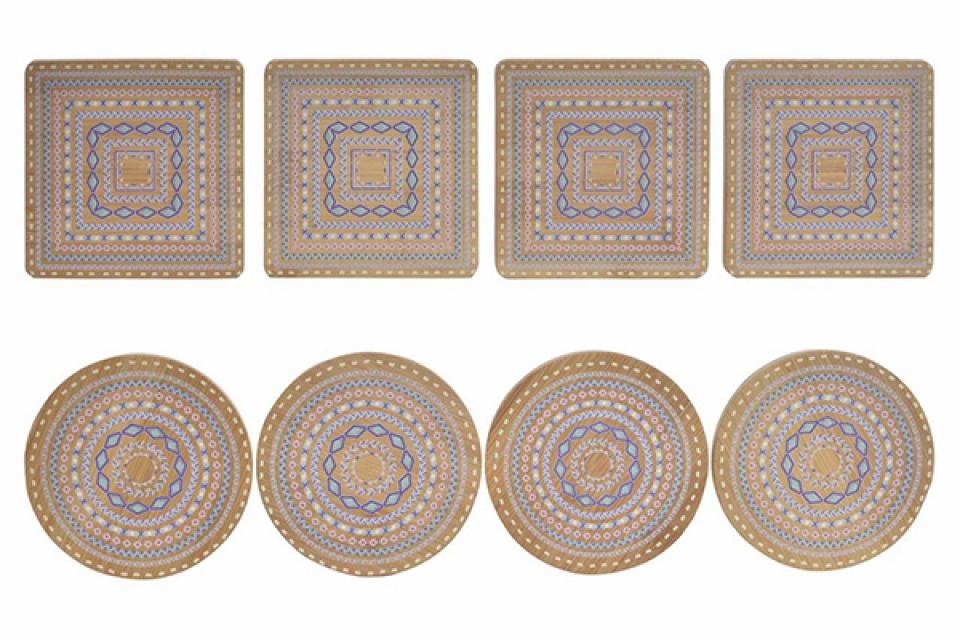 Set podmetača floral / 4 10x10x1 2 modela
