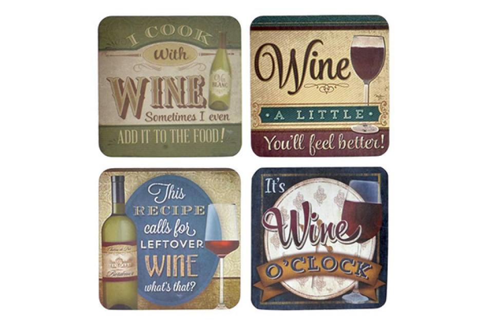 Set podmetača wine/ 4 10x10x0,4
