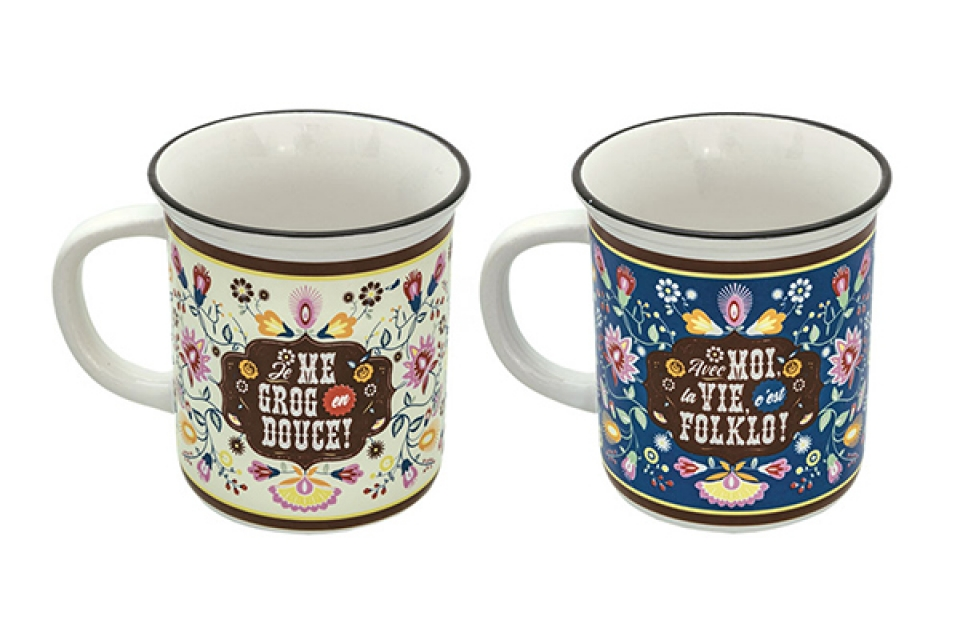 Set of 2 mugs folklo