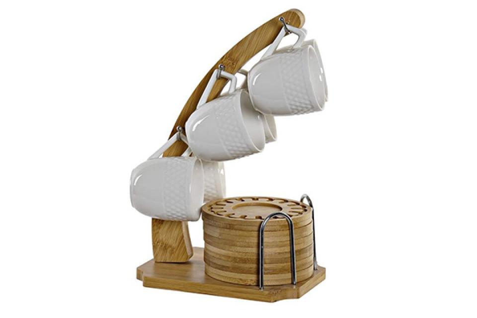 Set šoljica na bambus stalku / 6 16x16x25 75 ml