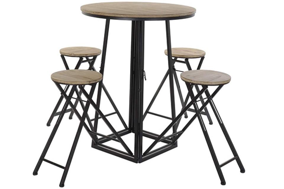 Sklopivi set sto i stolice 175x175x102