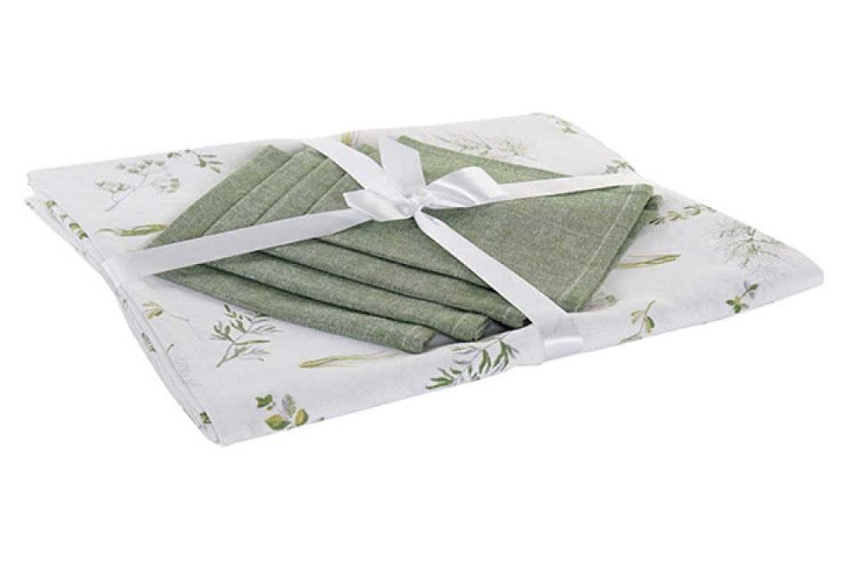 Set stolnjak botanic green / 4 150x1x150