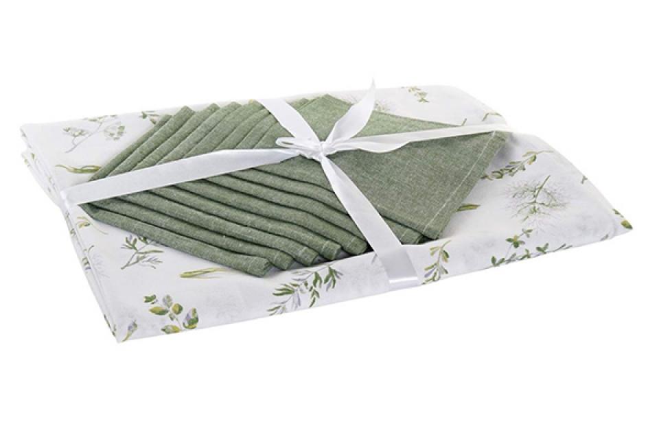 Set stolnjak botanic green / 8 150x1x250