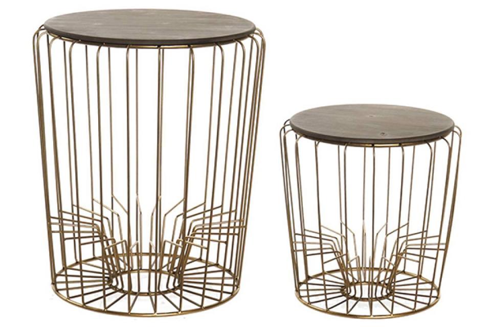 Set stolova golden / 2 47x47x57