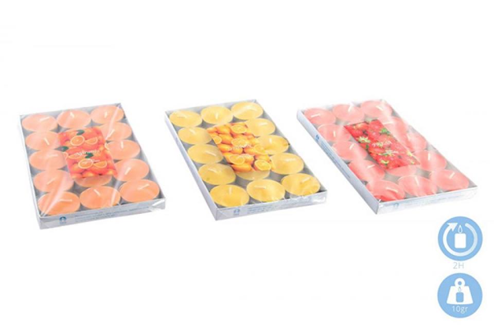 Set sveća tea / 15 10 gr. 3 boje