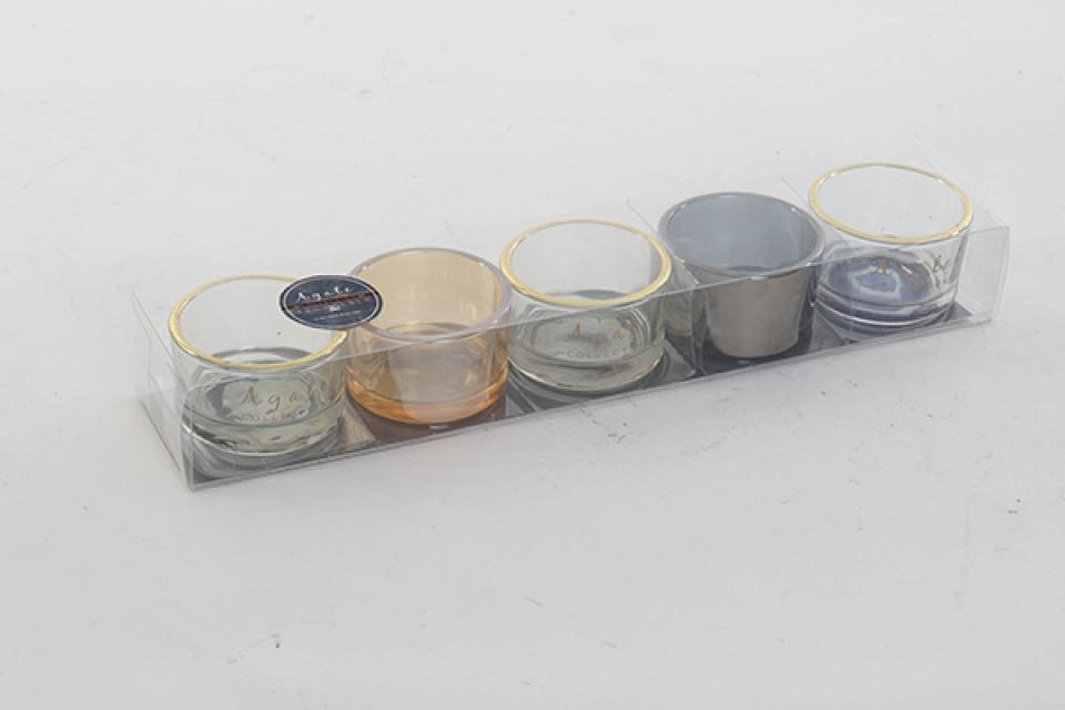 Set svećnjaka agate / 6 5x5x3,5