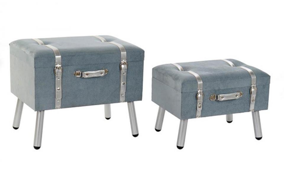 Set taburea grey / 2 60x40x50