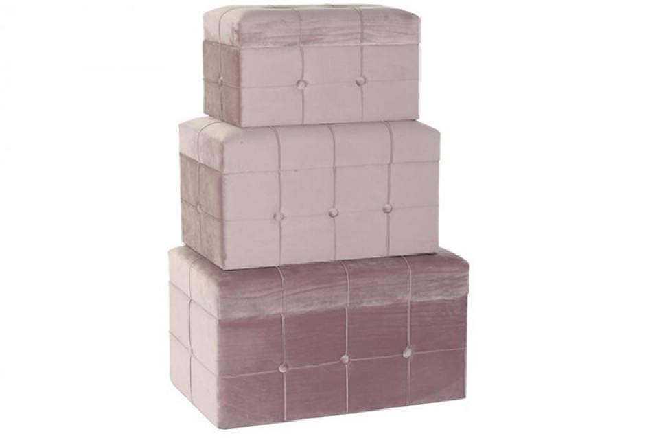 Set taburea velvet pink / 3 68x40x41