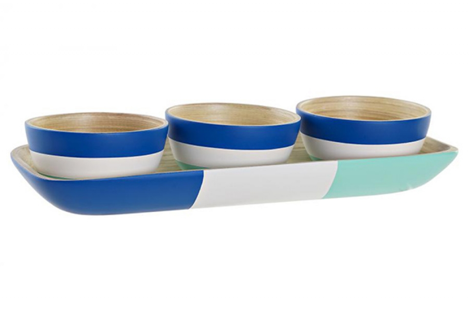 Set za salatu blue / 4 32x12,7x3