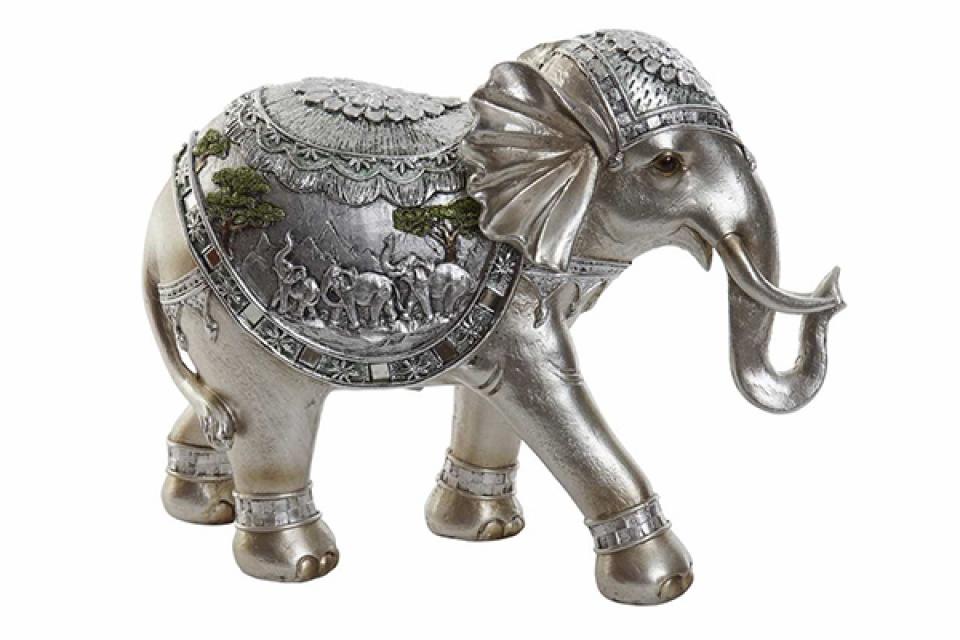 Silver figura slona 30x11,5x22