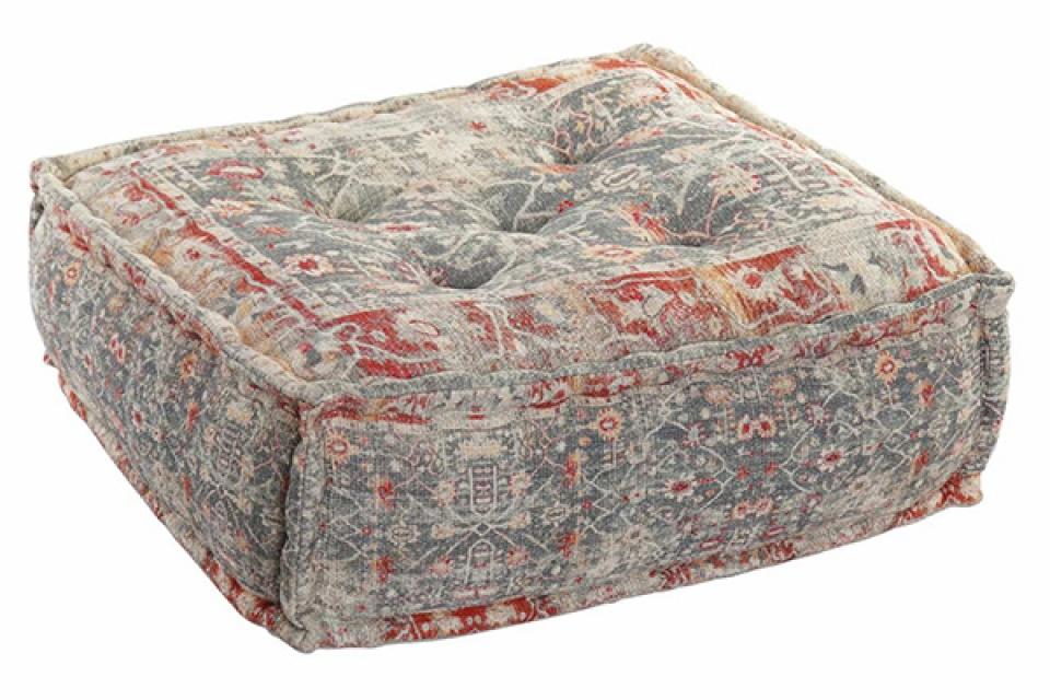 Sivi četvrtasti podni jastuk 60x60x23 4 kg.