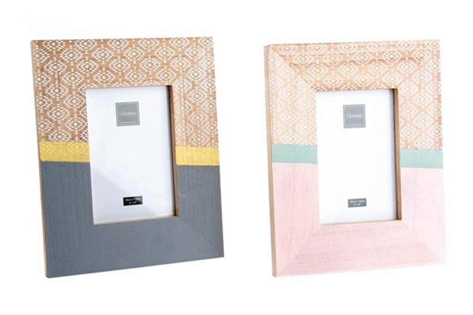 Sivi i roze ram 10x15 2 boje