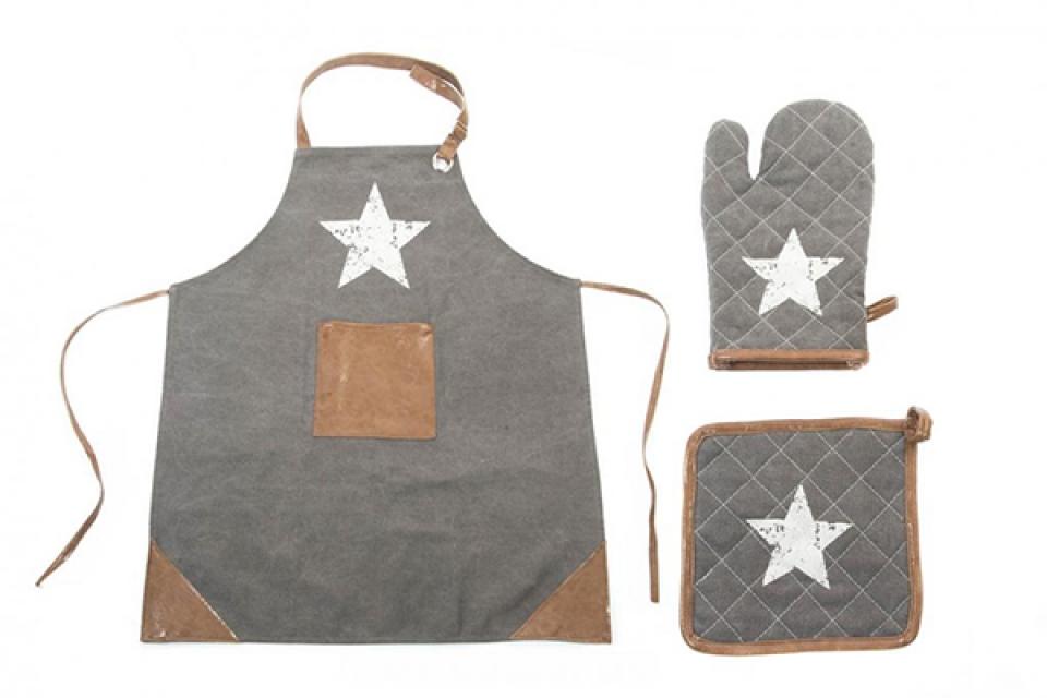 Sivi kuhinjski set/3 70x80