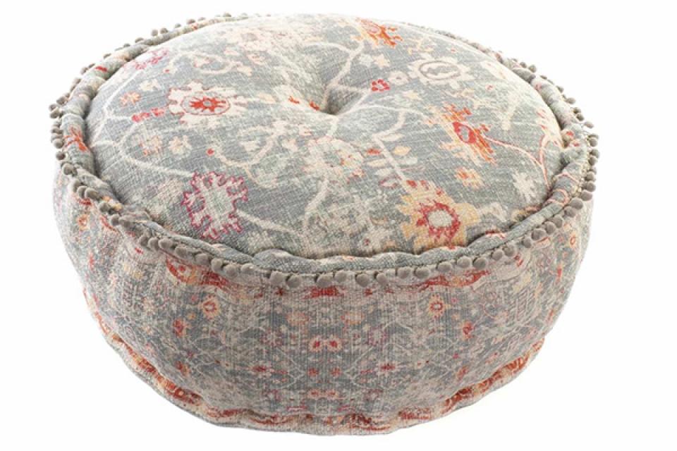 Sivi okrugli podni jastuk 60x60x23 4,2 kg