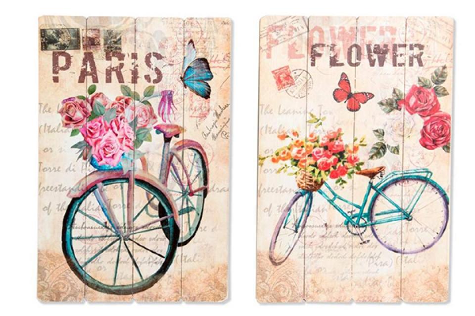 Slika bicikl sa ružama 40x60 2 modela