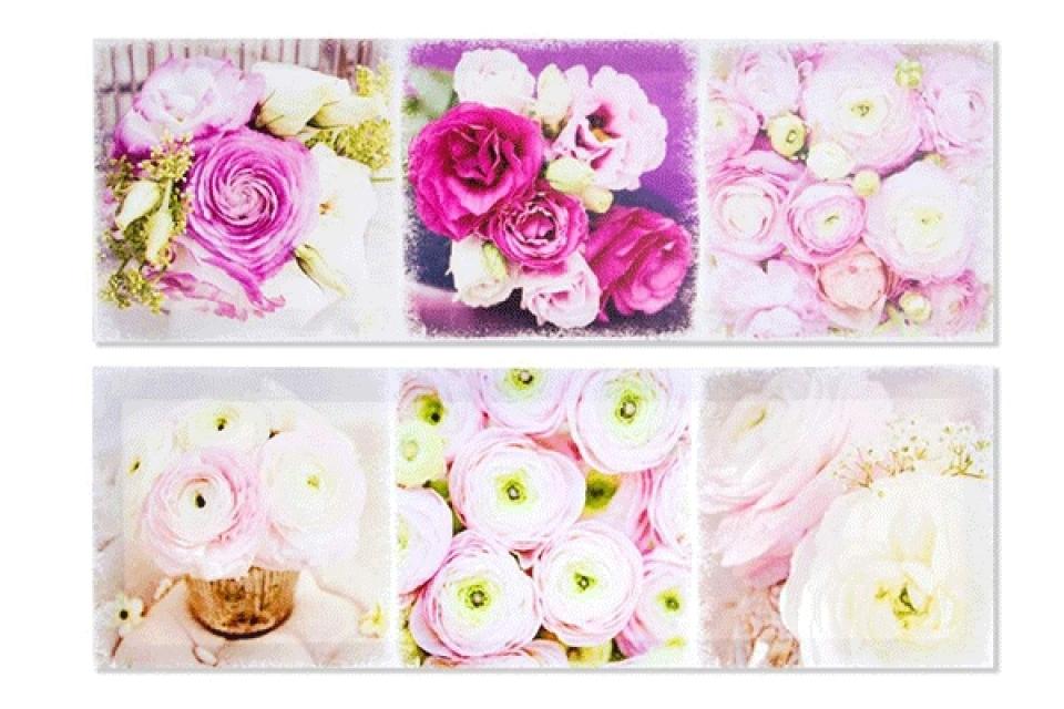 Slika cveće 60x20x1,5 2 modela