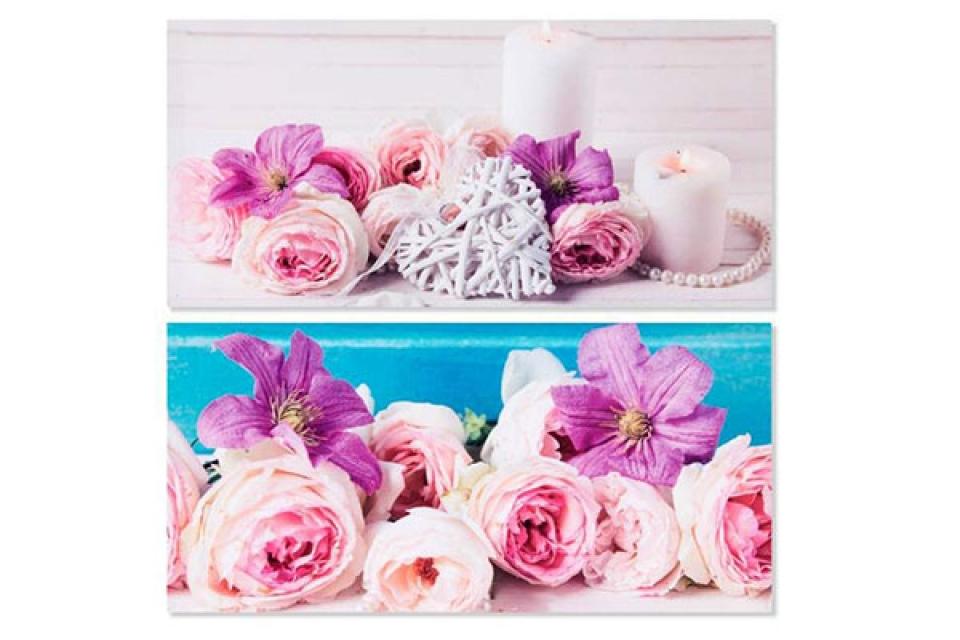 Slika cveće i biseri  79x38x2 2 modela