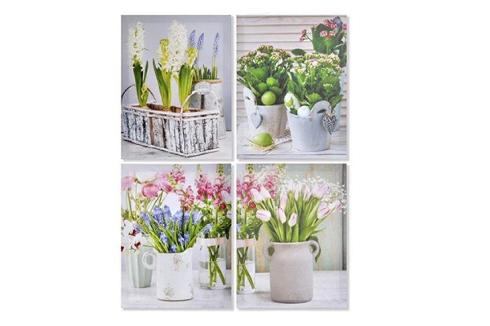 Slika cveće u saksijama 30x2x40 4 modela