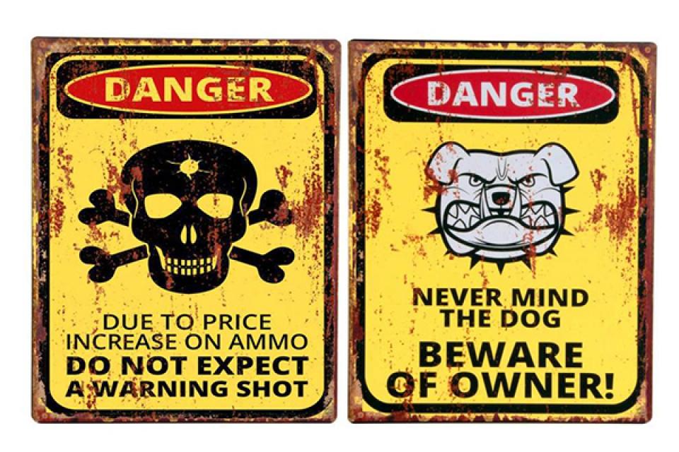 Slika danger / metal 20x25 2 modela