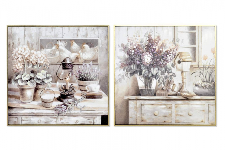 Slika flowers 61,5x5x61,5 2 modela