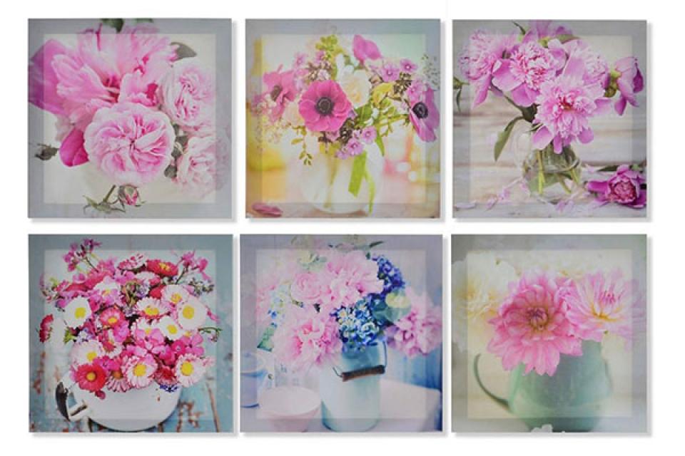 Slika flowers  28x28x1,5 6 modela