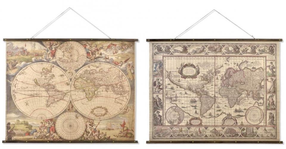 Slika karta sveta 155x2,5x122 2 modela