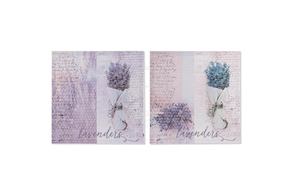 Slika plavi i lila buket lavande  50x50x2.8 3d 2modela