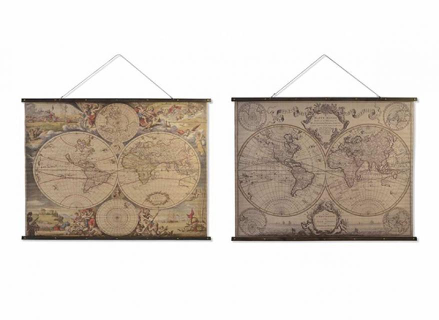 Slika mapa sveta 155x2,5x120 2 modela