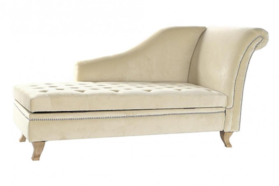 Sofa velvet foam beige 160x71x83