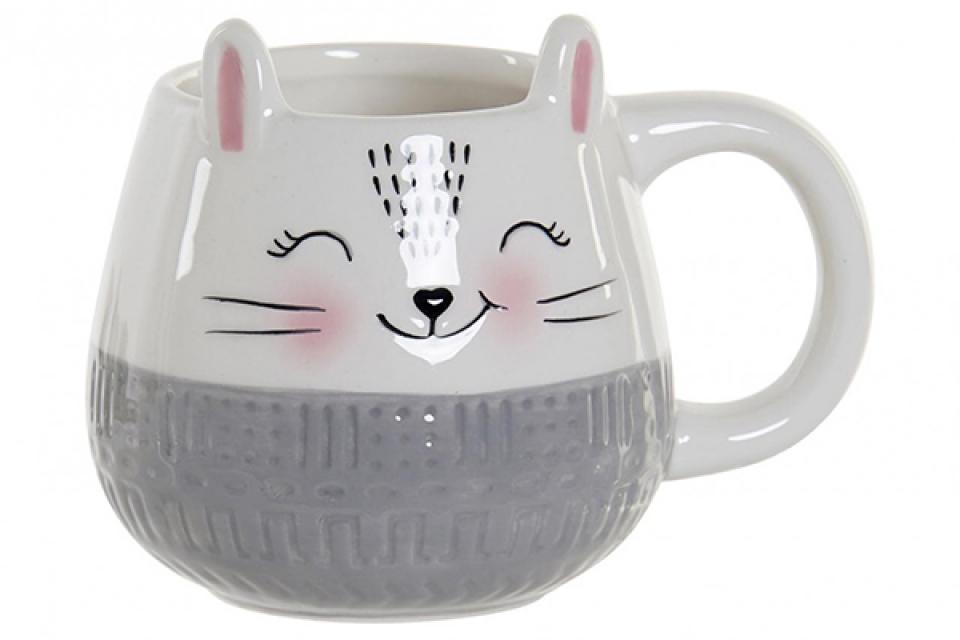 šolja cat white 13x9,5x9,8 350  ml