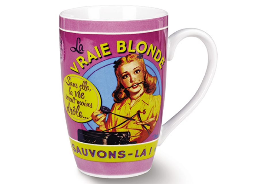 šolja keramička blonde