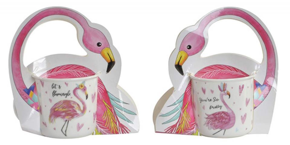 šolja pink flamingos 12,3x9,8x8,9 420ml 2 modela