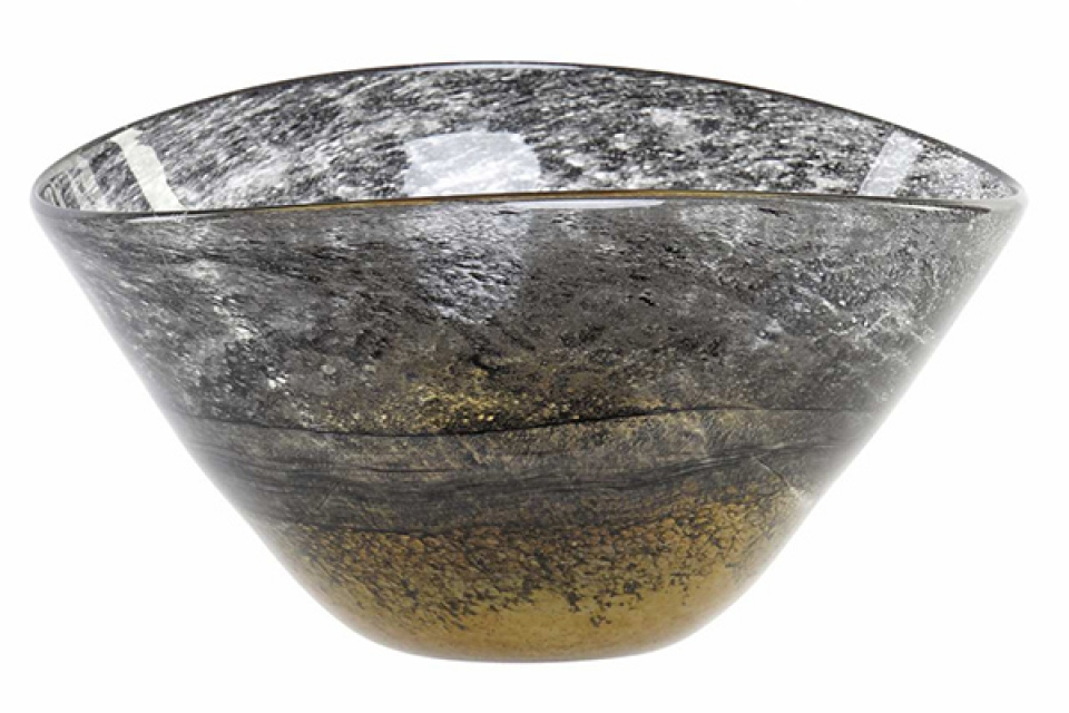 Staklena činija amber 30,5x22x16,5
