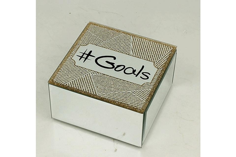 Staklena kutija goals 12 cm
