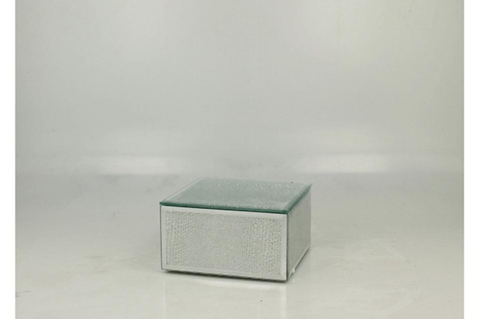 Staklena kutija silver snake 12 cm