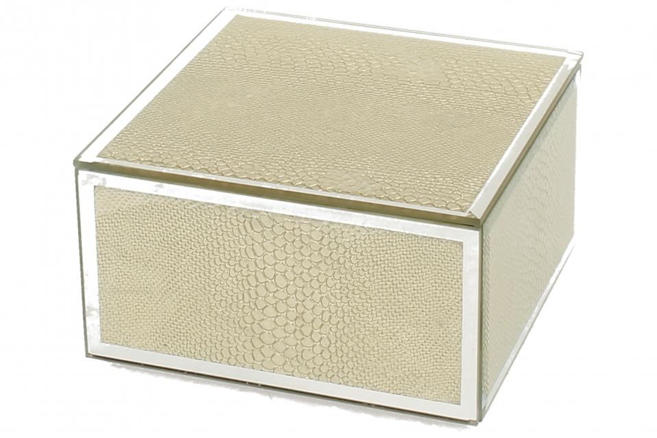 Staklena kutija gold snake 12 x 12 cm