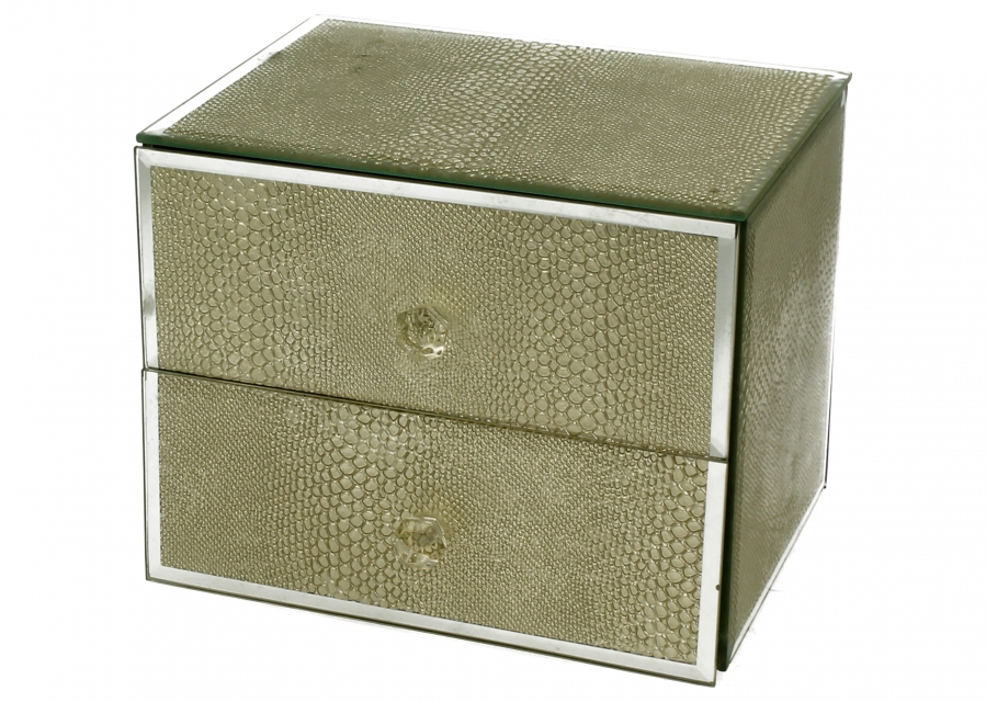 Staklena kutija gold snake  12,5 x 13,2 cm