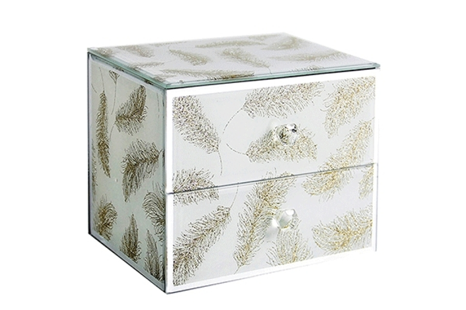 Staklena kutija sa fiokama ivy
