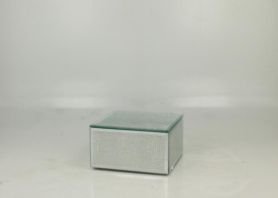 Staklena kutija silver snake  12,5 x 13,2 cm