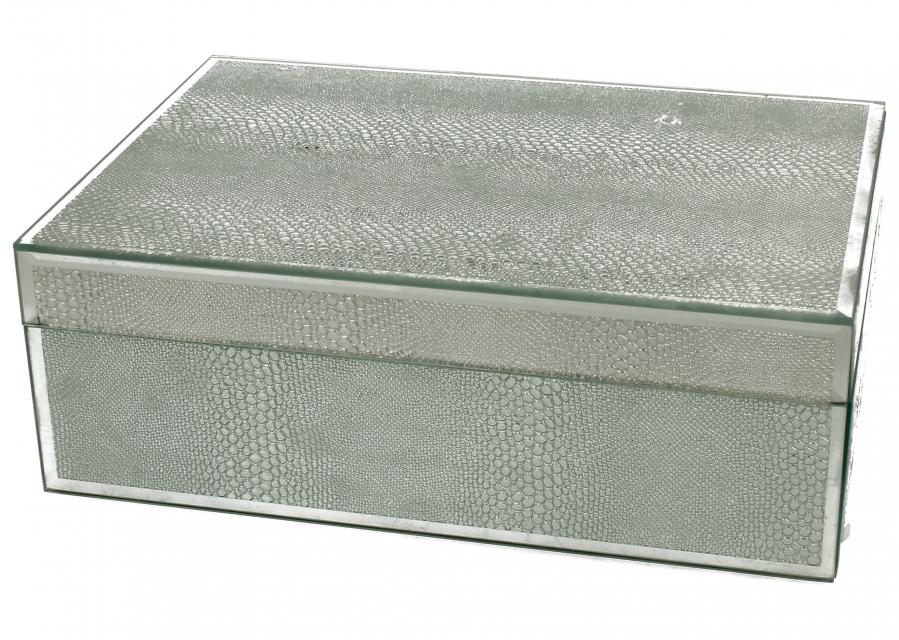 Staklena kutija silver snake  24,5 x 17,5 cm