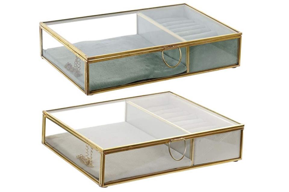 Staklena kutija za nakit 23x15x5 2 modela