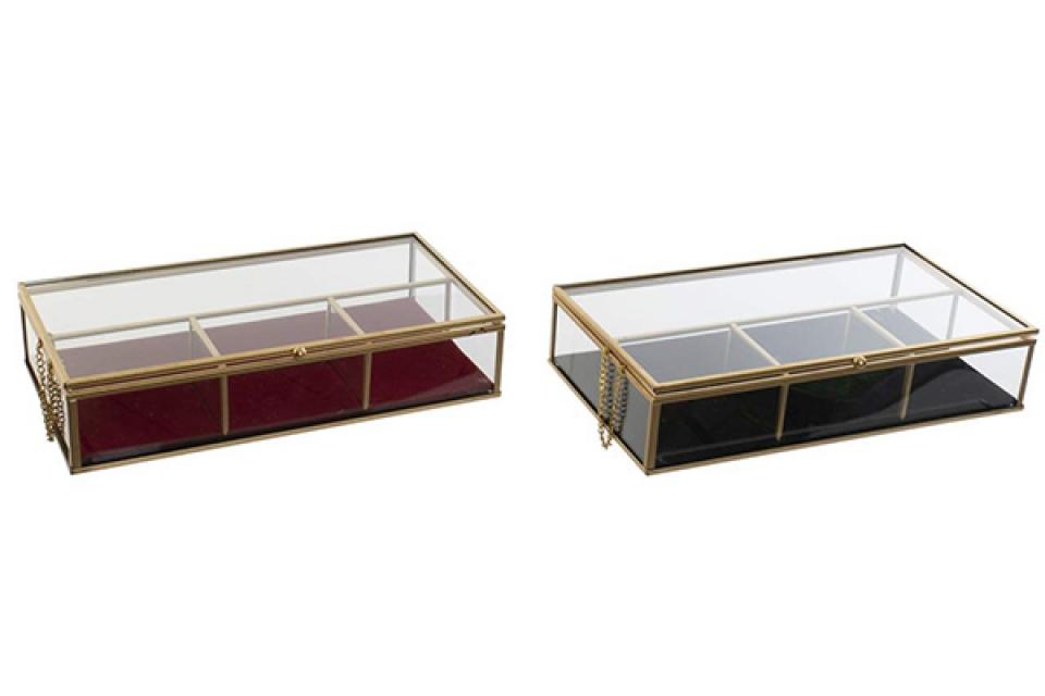 Staklena kutija za nakit  27x15x5,5 2 modela