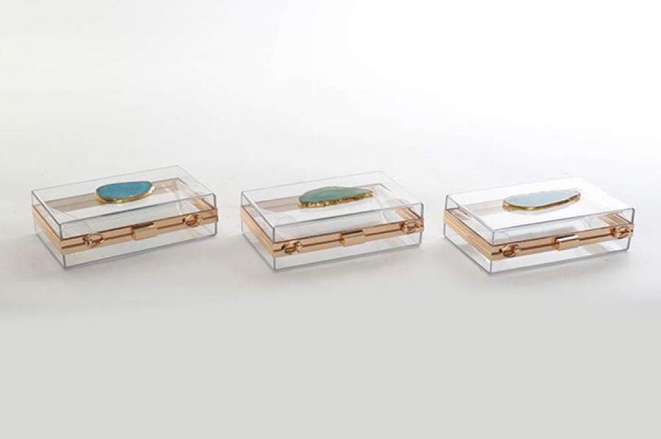 Kutija za nakit tašnica  18x12x6,5 3 modela