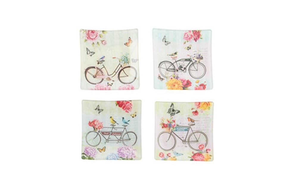 Staklena tacna 15x15 bicikl