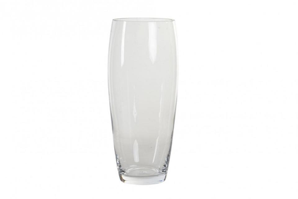 Staklena vaza zaobljena 13x13x30