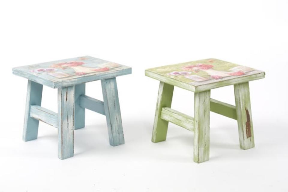 Stalak za cveće stolice sa cvetnim dezenom