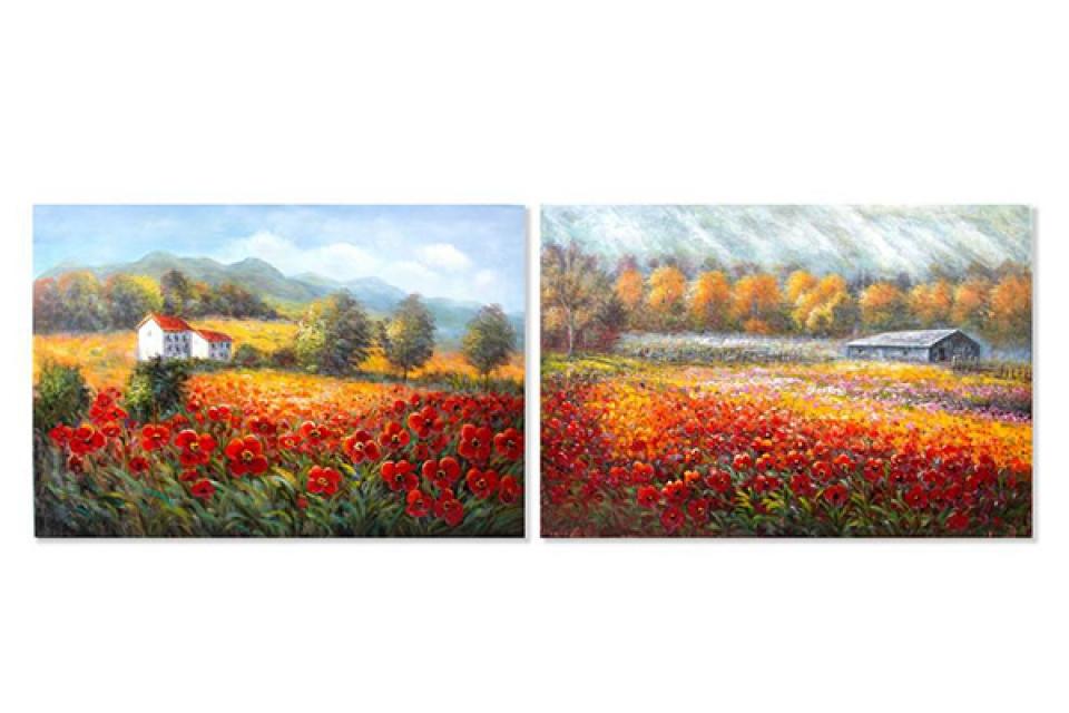 štampana slika 150x100x4 cveće 2 modela